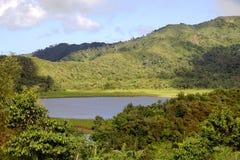 格林纳达海岛-盛大Etang湖 库存照片