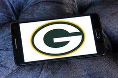 格林贝包装员橄榄球队商标 免版税库存照片