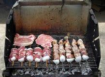 格栅肉 库存图片