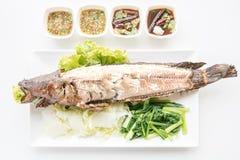 格栅鱼按顺序泰国食物 图库摄影