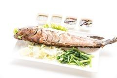 格栅鱼按顺序泰国食物 库存照片