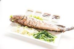 格栅鱼按顺序泰国食物 库存图片