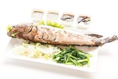 格栅鱼按顺序泰国食物 免版税库存图片