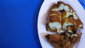 格栅鸡肉菜肴 泰国的样式 免版税库存图片