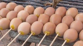 格栅鸡蛋 库存照片