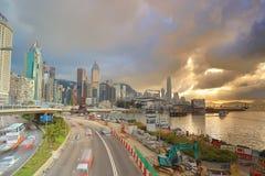 格洛斯特路天视图,香港 库存图片