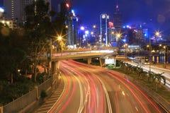 格洛斯特Rd,城市高速公路铜锣湾 免版税库存图片