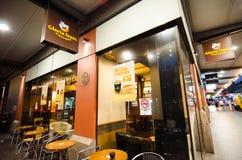 格洛里亚吉恩` s咖啡是一家特权的专业咖啡馆公司在悉尼,澳大利亚 免版税库存照片