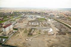 格罗兹尼视图城市从上面 库存照片