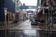 格罗斯Freiheit街道在汉堡 免版税库存照片