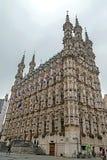 格罗特的Markt哥特式城镇厅在鲁汶,比利时1 图库摄影