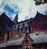 格罗特Kerk在哈莱姆 库存照片