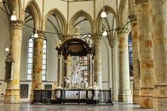 格罗特Kerk小室Sint-Jacobskerk Haag或格罗特  库存图片