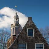 格罗特Kerk的钟楼vlaardingen的 免版税库存图片