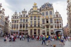格罗特Markt布鲁塞尔 免版税库存图片