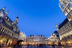 格罗特Markt,布鲁塞尔,比利时,欧洲。 免版税库存图片