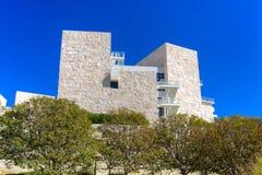 格蒂中心的建筑特点 免版税图库摄影
