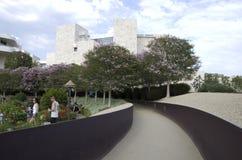 格蒂博物馆外部庭院 免版税库存照片