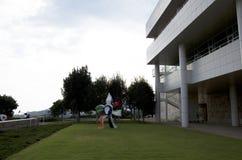 格蒂博物馆外部庭院 库存照片