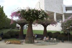 格蒂博物馆庭院洛杉矶 免版税库存照片
