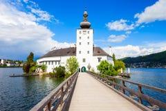 格蒙登Schloss Ort,奥地利 库存图片