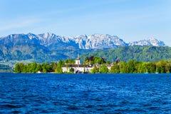 格蒙登Schloss Ort,奥地利 图库摄影