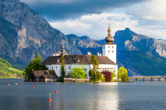 格蒙登Schloss Ort,奥地利 库存照片