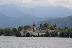 格蒙登,奥地利,年2010年 免版税库存照片