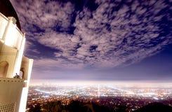 格里菲斯Observatoryï ¼ Œ洛杉矶夜场面  免版税库存照片