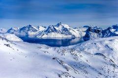格陵兰内地冰 库存图片