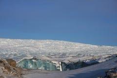 格陵兰冰冠的边缘 库存照片