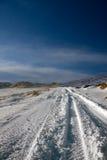 格陵兰冰盖路 库存照片