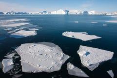 格陵兰冰盖 图库摄影