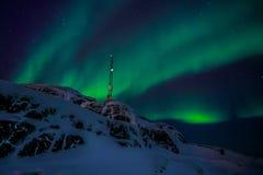 格陵兰北极光 免版税库存照片