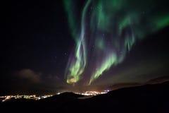 格陵兰北极光 免版税库存图片