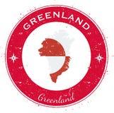 格陵兰圆爱国徽章 免版税库存照片