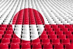 格陵兰旗子体育场位子 体育竞赛概念 免版税图库摄影