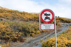 格陵兰路牌 免版税库存照片