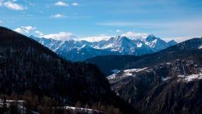 格雷晏阿尔卑斯山脉,意大利 免版税库存图片