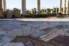 """格雷科†""""罗马蒜味咸腊肠废墟在法马古斯塔塞浦路斯 免版税库存图片"""