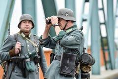 格雷菲诺,波兰, 2017年9月23日:历史重建  免版税库存照片