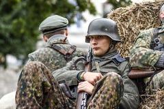 格雷菲诺,波兰, 2017年9月23日:t的历史的重建 免版税库存图片