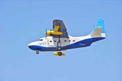 格鲁门公司HU-16信天翁两栖飞行船 免版税图库摄影