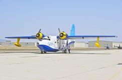 格鲁门公司HU-16信天翁两栖飞行船 免版税库存照片