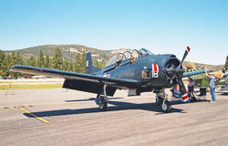 格鲁门F6F悍妇 免版税库存照片