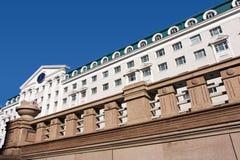 格洛里亚反对蓝天的旅馆旅馆,哈尔滨,中国 免版税库存照片