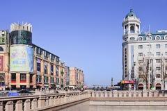 格洛里亚反对蓝天的旅馆旅馆,哈尔滨,中国 库存照片