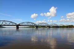 桁架桥在波兰 免版税图库摄影