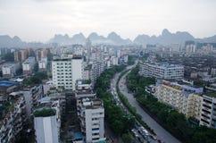 桂林市,广西省,中国全景  免版税库存图片