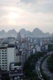 桂林市,广西省,中国全景  免版税图库摄影